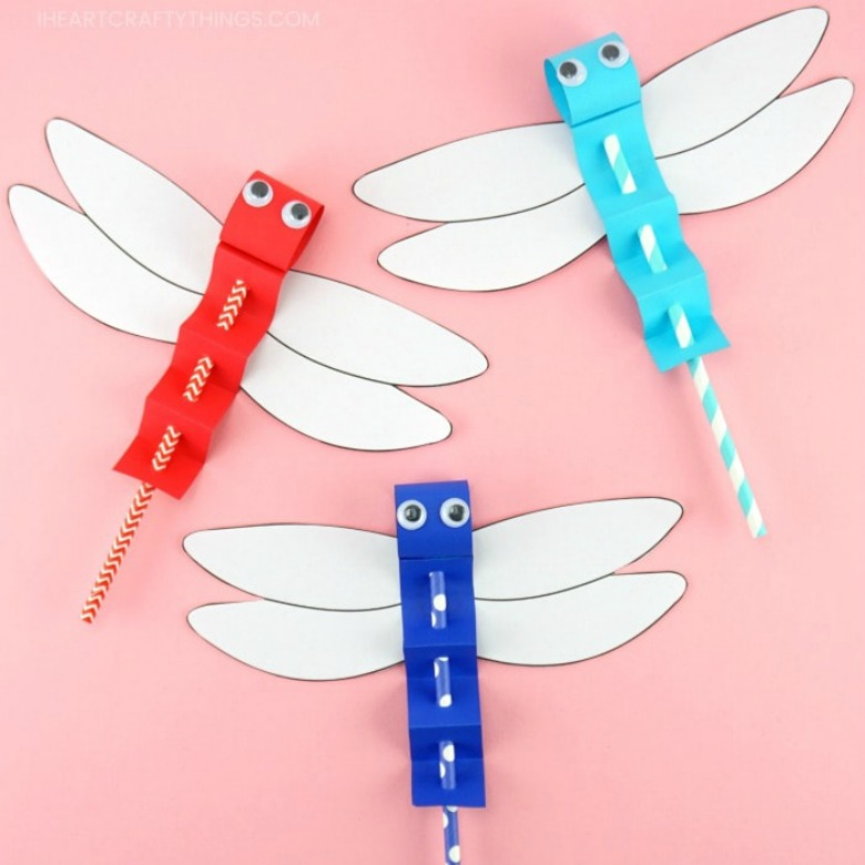 dragon fly paper craft for kids