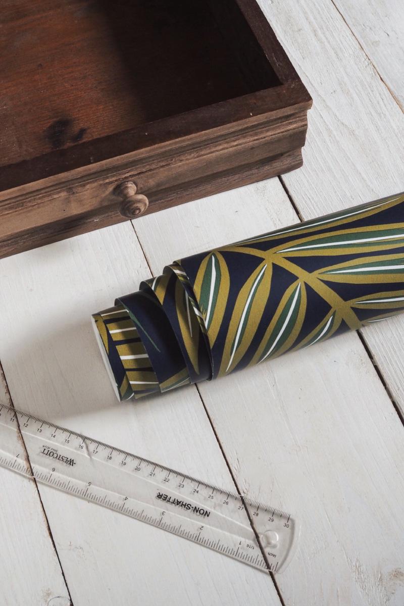Tutoriel : habiller l'intérieur de ses tiroirs avec du papier peint