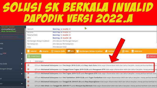 Solusi SK Berkala Invalid Dapodik 2022.a