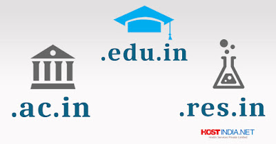 .edu.in, .ac.in, and .res.in domain extension