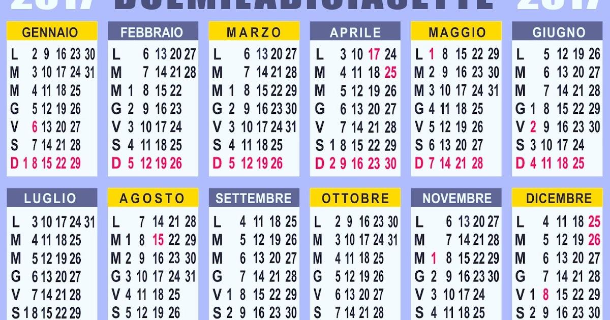 Calendario : Calendario 2017