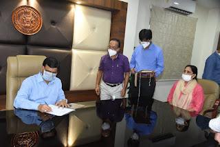 श्री गोपालचंद्र डाड ने रतलाम कलेक्टर का पदभार ग्रहण किया