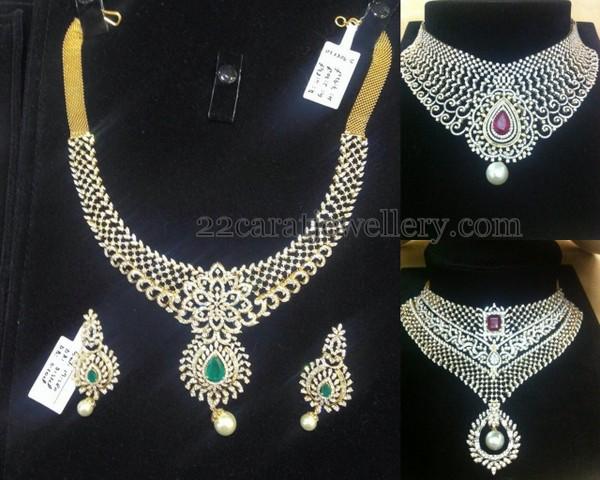 Heavy Diamond Wedding Sets Jewellery Designs