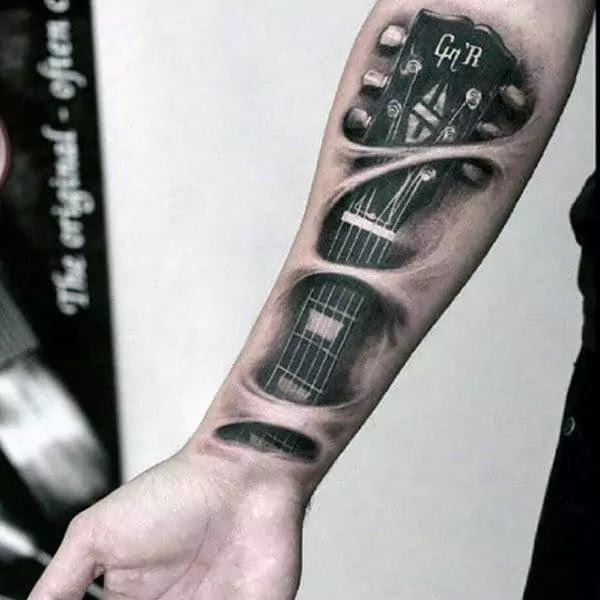 Music Sleeve Tattoos For Men Lyrical Ink Design Ideas Music
