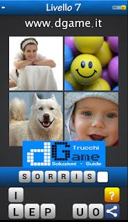 Trova la Parola - Foto Quiz con 4 Immagini e 1 Parola pacchetto 1 soluzione livello 7