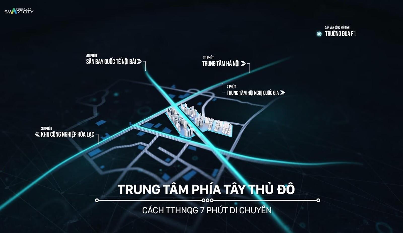Vinhomes Smart City - Vị trí trung tâm phía Tây Thủ Đô