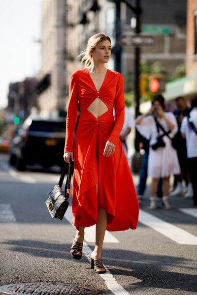 red dress fashion trend