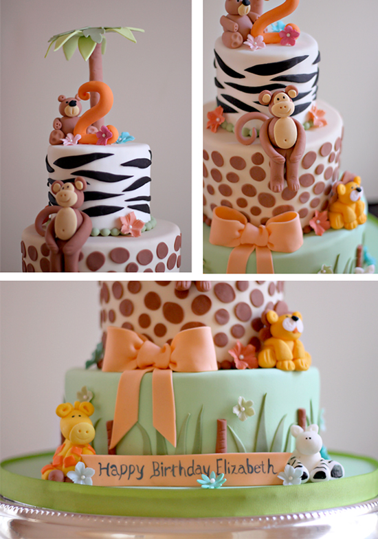 Elizabeth S Zoo Theme 2nd Birthday Cake The Couture Cakery