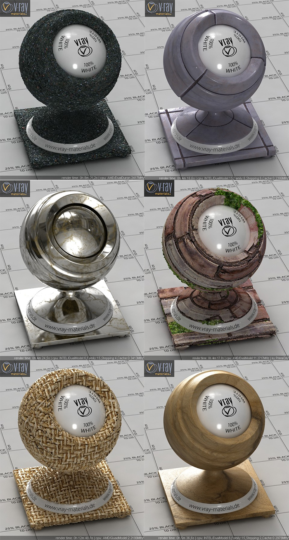 3dsMax Vray高清材質庫