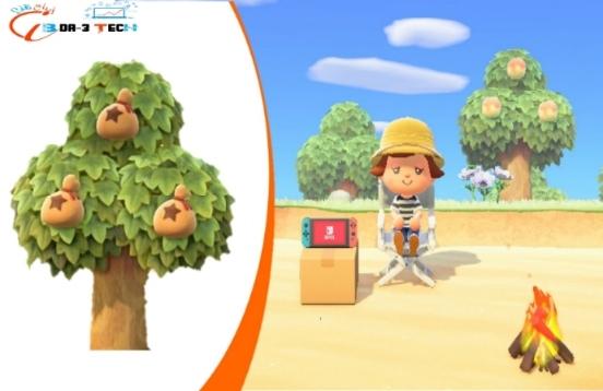 شرح طريقة زرع شجرة المال في لعبة معبر الحيوانات Animal Crossing