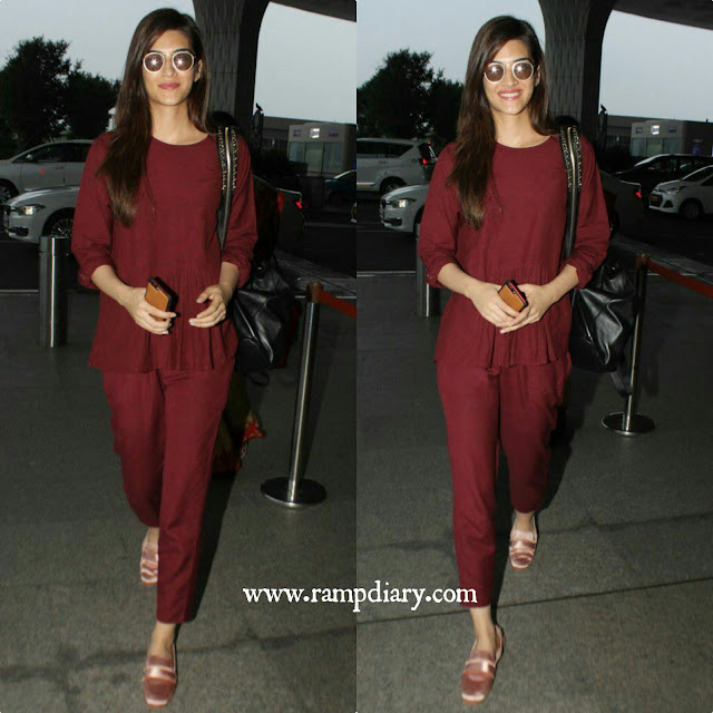 Kriti Sanon opted for a Cord outfit at the airport