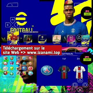 eFootball PES 2022 PPSSPP Caméra PS5 Android hors ligne Nouveaux kits 21-22 et derniers transferts Meilleurs graphismes