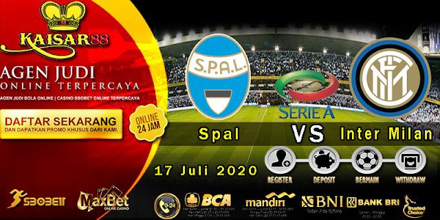 Prediksi Bola Terpercaya Liga Italia Spal vs Inter Milan 17 Juli 2020