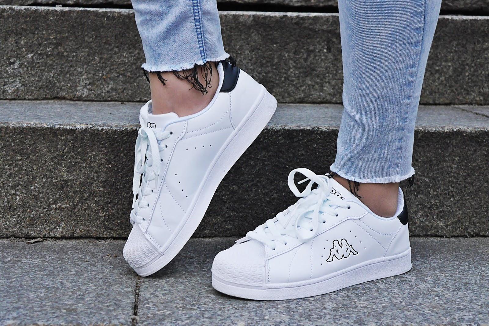 blog modowy blogerka modowa karyn buty kappa białe bonprix