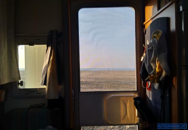 Vista des de l'autocaravana