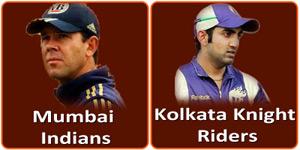 कोलकाता नाईट राईडर्स बनाम मुम्बई इंडियन्स 24 अप्रैल 2013 को है।