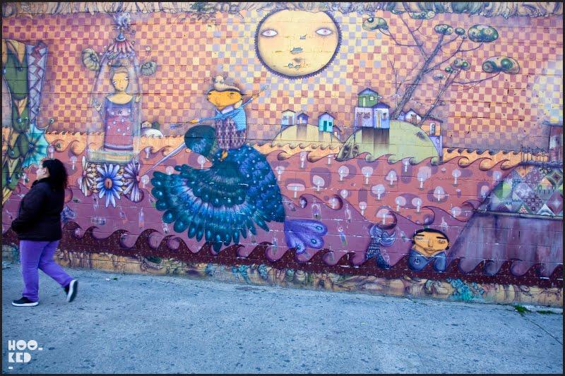 Os Gemeos New York Street Art Mural inConey Island