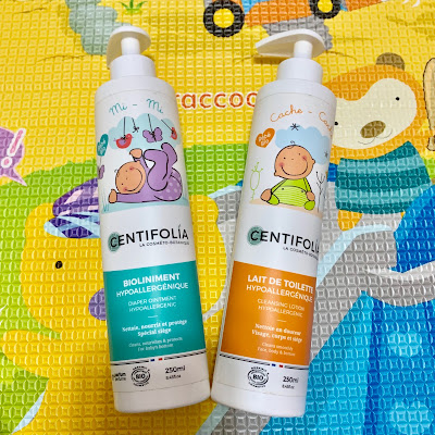 法國貝貝呵護BB肌膚 ~ CENTIFOLIA 嬰幼兒肌膚修護霜 & 免用水嬰幼兒潔膚乳