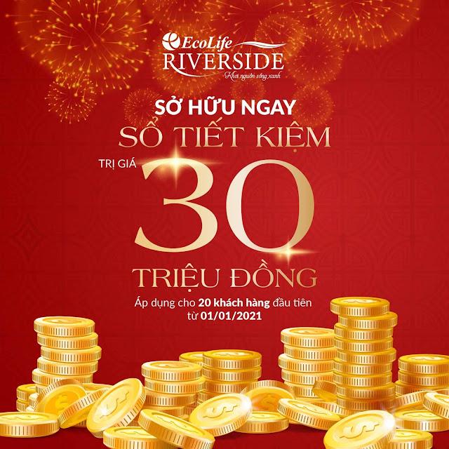 """Tặng """"Sổ Tiết Kiệm"""" trị giá 30 triệu đồng"""