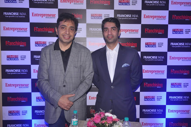 Gaurav Marya_ Chairman_  Franchise India with Olympian Abhinav Bindra at the Launch of Franchise India, Delhi