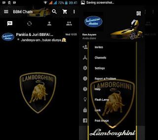 Download BBM Mod Lamborghini Versi v2.11.0.18