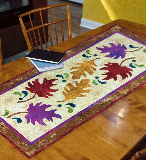 Autumn Leaves Table Runner Free Tutorial