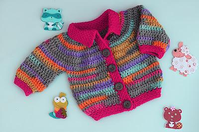 4 - Crochet Imagen Chaqueta a crochet para niño niña muy fácil y rápido por Majovel Crochet