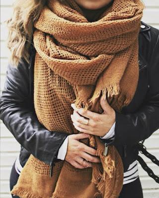 Bufanda x grande marrón
