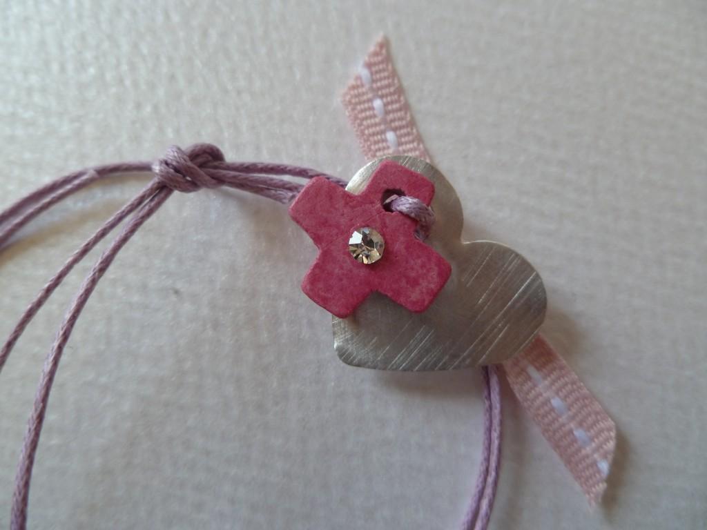 φούξια κεραμικό σταυρουδάκι με στρας