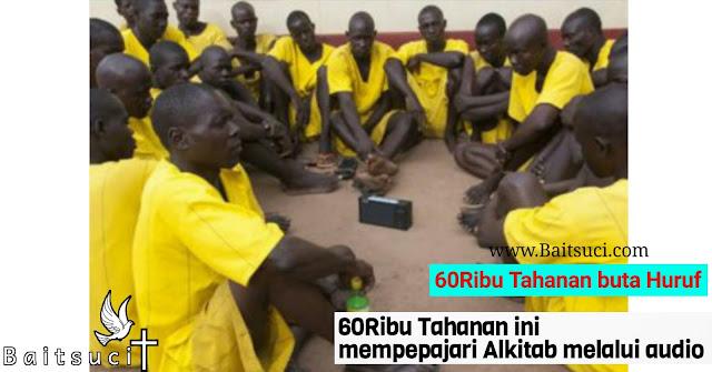 60.000 Orang tahanan buta huruf mempelajari Alkitab melalui audio