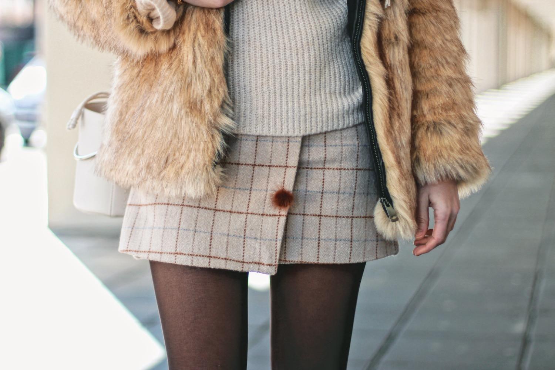 falda estampada de invierno