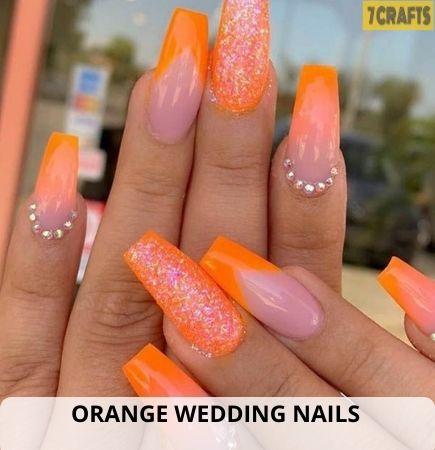 Orange Wedding Nails