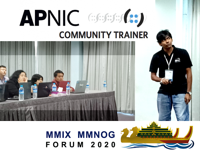 Sarada Hettiarachchi has conducted SDN workshop sessions as a APNIC Community Trainer