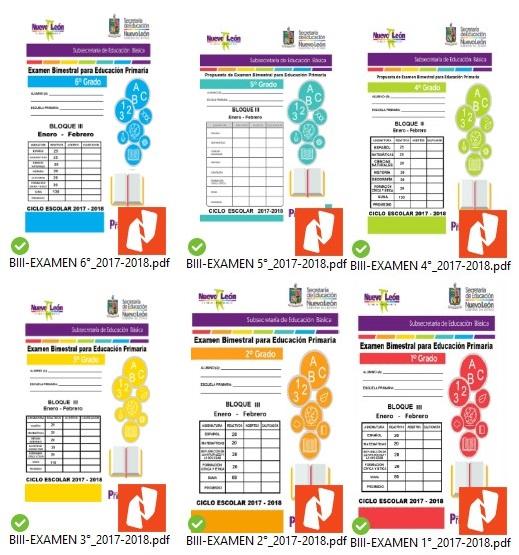 examenes trimestrales primaria tercer trimestre SENL