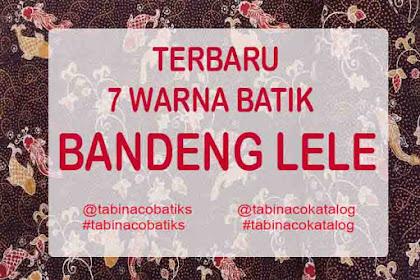 7 Warna kain batik tulis bandeng lele modern khas lamongan