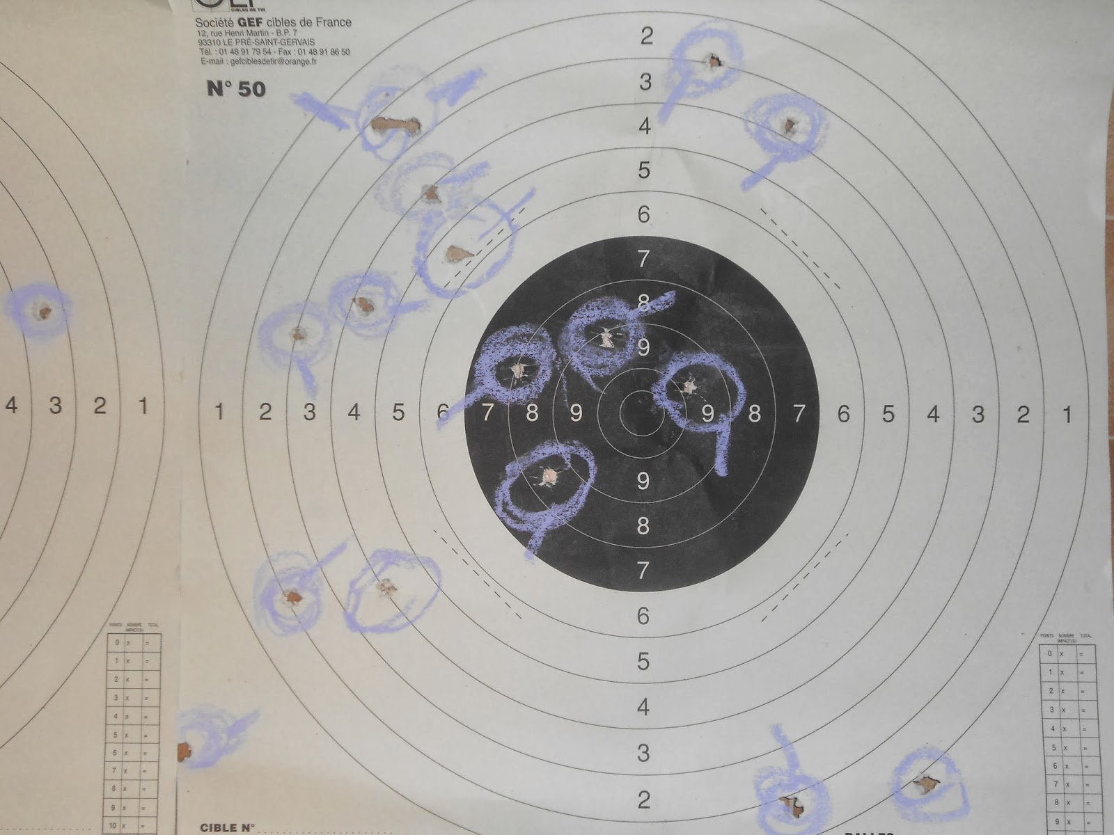 carton séance de tir