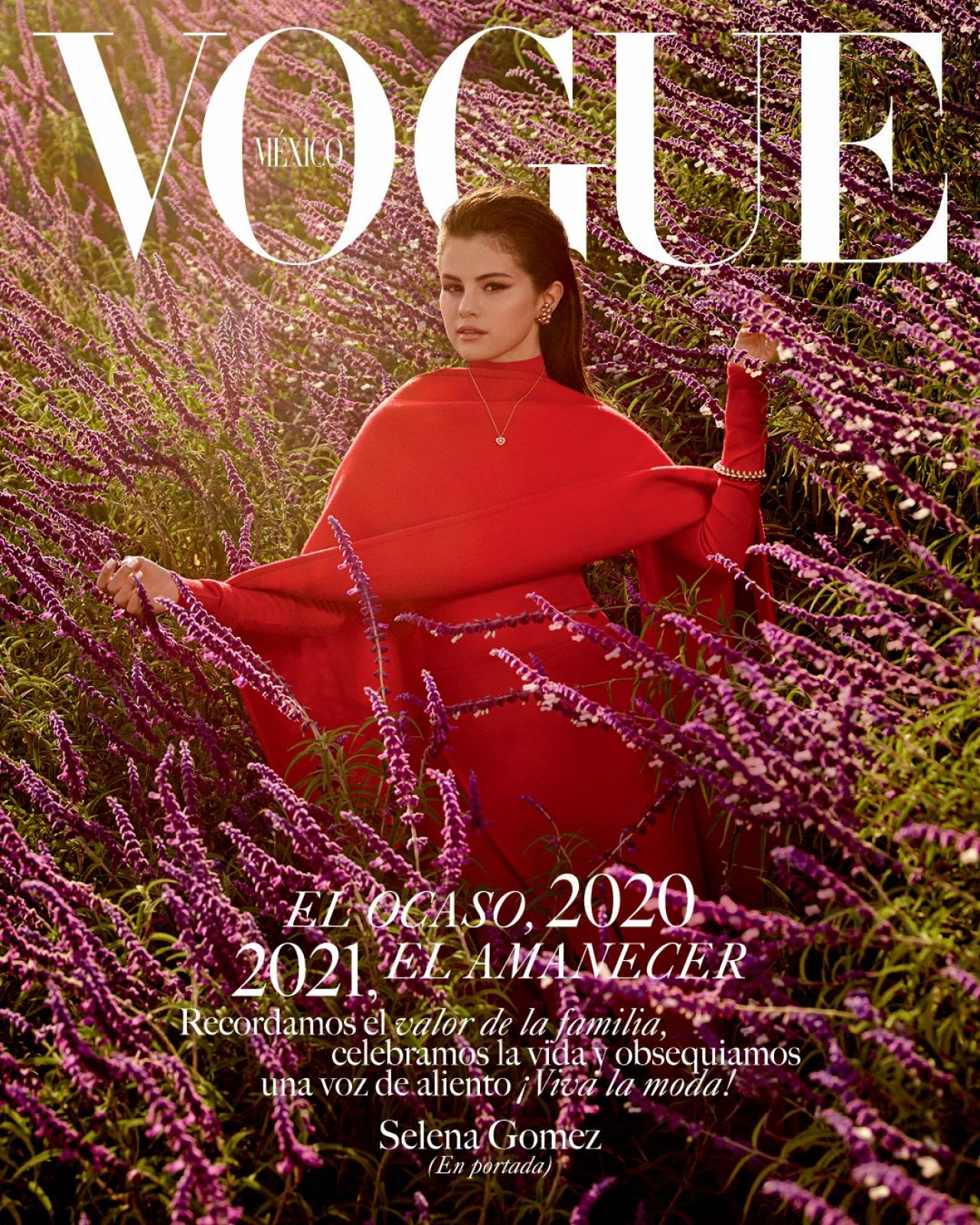 Selena Gomez is on the cover of December/January issue of Vogue Mexico