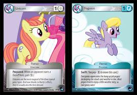 My Little Pony White Unicorn, Blue Pegasus Token High Magic CCG Card