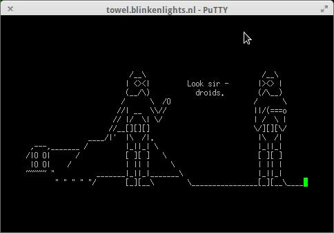 Película Star Wars en ASCII