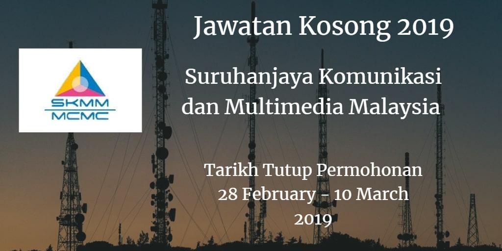 Jawatan Kosong SKMM 28 February - 10 March 2019