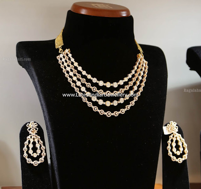 4 Step Diamond Necklace