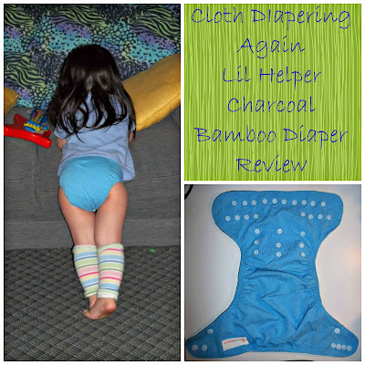 Lil Helper Charcoal Bamboo Diaper Review