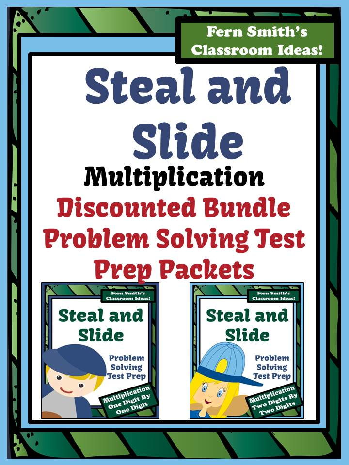 Fern Smith's Just Published Discounted Bundle Test Prep Baseball's Steal and Slide Method - Multiplication