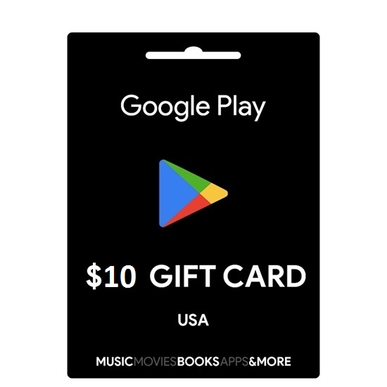 google play gift card 10$ 250.000 VNĐ