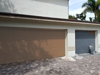 painting a garage door