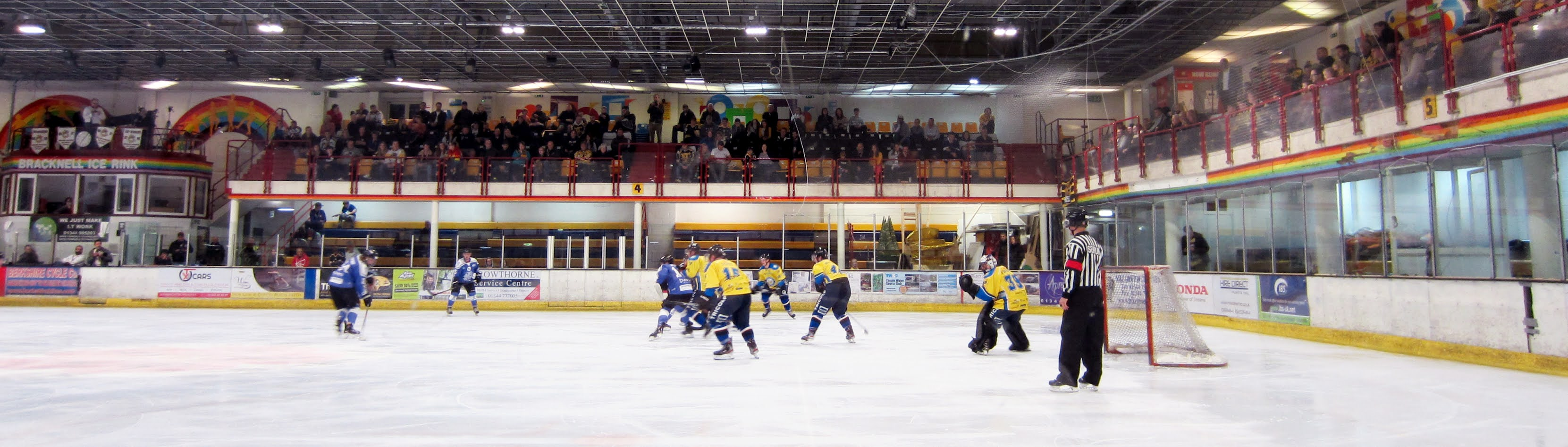 View from downstairs at the Bracknell Ice Rink