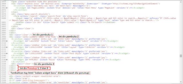 Cara menambahkan kolom add widget blogger