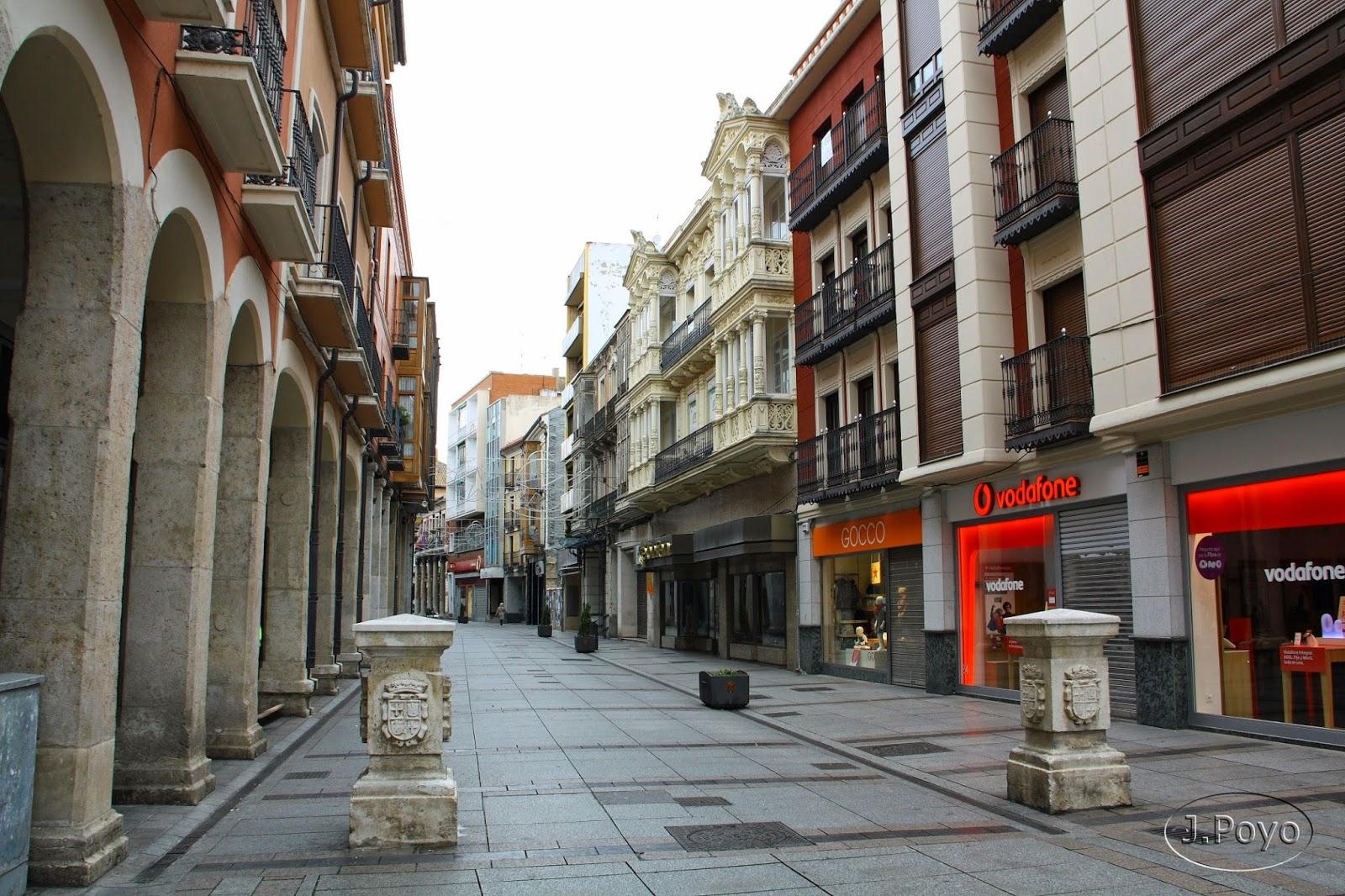Cuatro cantones de la Calle Mayor de Palencia