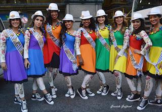 Desfile Inaugural del Carnaval. Uruguay. 2017. Reinas