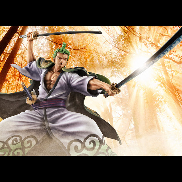 P.O.P Warriors Alliance Zoro-juurou 1/8 de One Piece, MegaHouse.